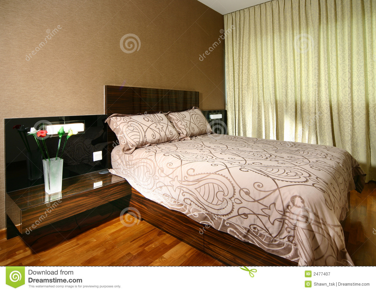 Interior design bedroom royalty free stock photography for Interior design king bed