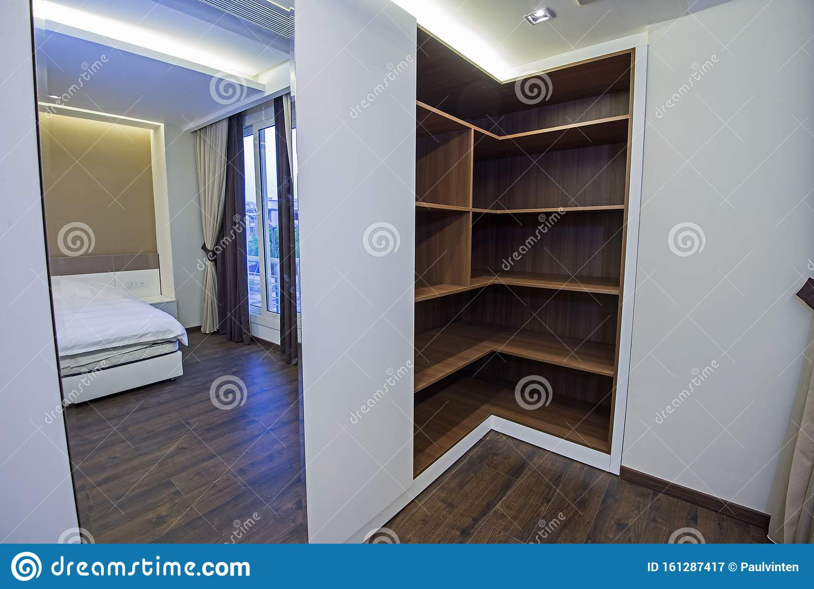 Interior Design Of Bedroom Closet In House Stock Image Image Of Cupboard Walk 161287417