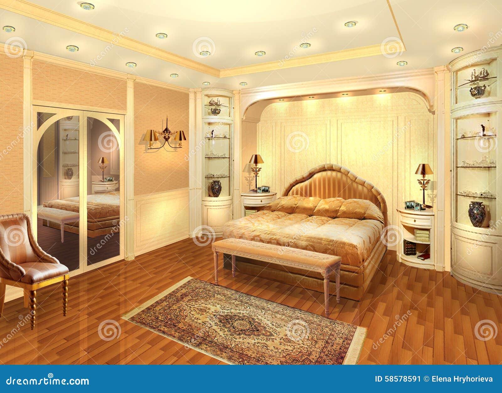 Private Home Project Design Interior Stock Illustration