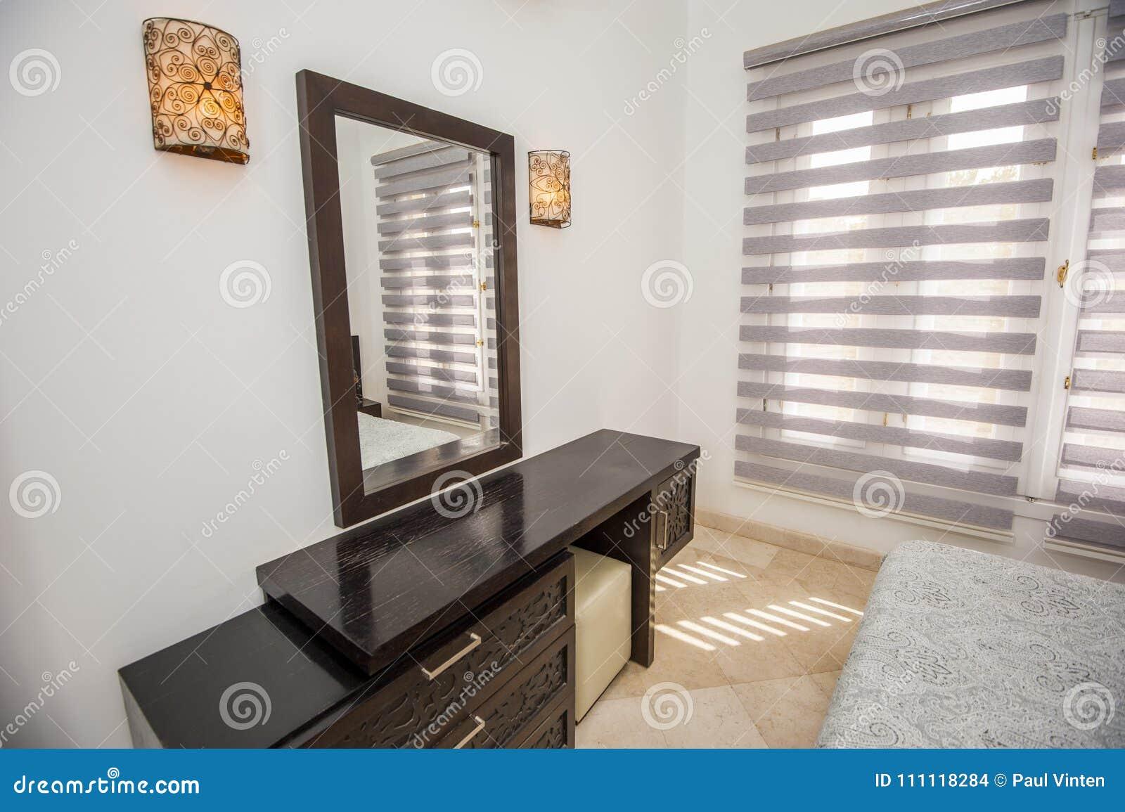 Interior Design Of Bedroom In Luxury Holiday Villa Stock Photo ...