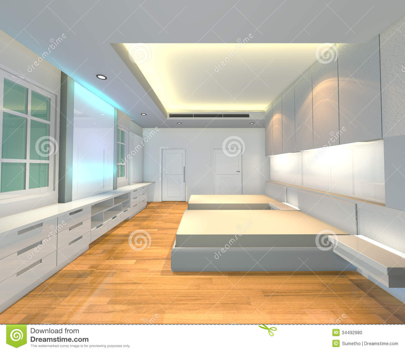 Minimalist Interior Design Bedroom Bedroom Cabinet Design Images Bedroom Sets Images Bedroom Themes: Interior Design Bedroom White Theme Stock Photo