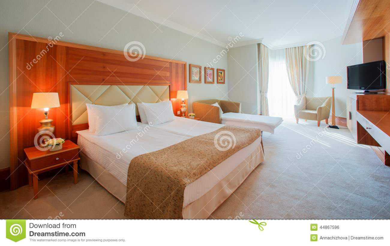 Modern bedroom interior design royalty free stock photo for Big bedroom interior design