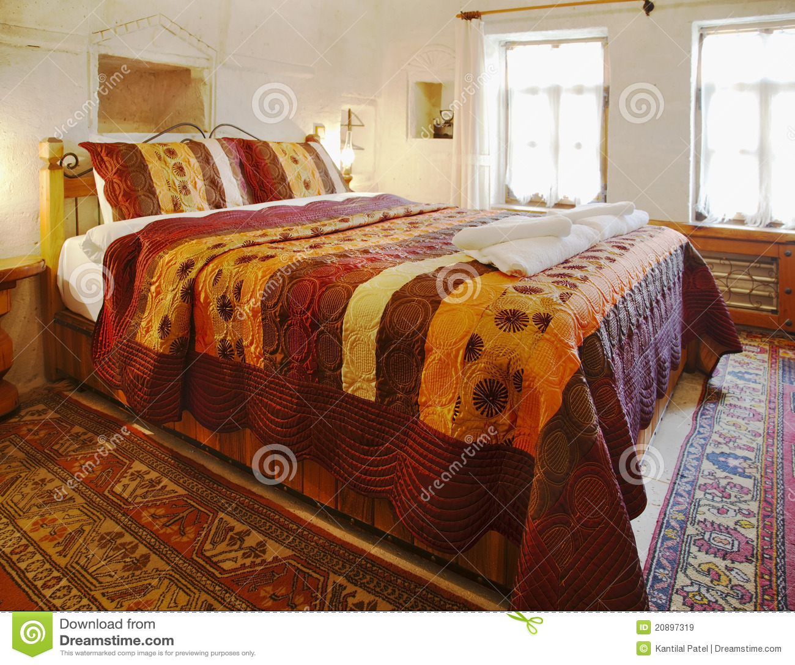 Interior Design Cave Bedroom Multi Colored Bedding Royalty