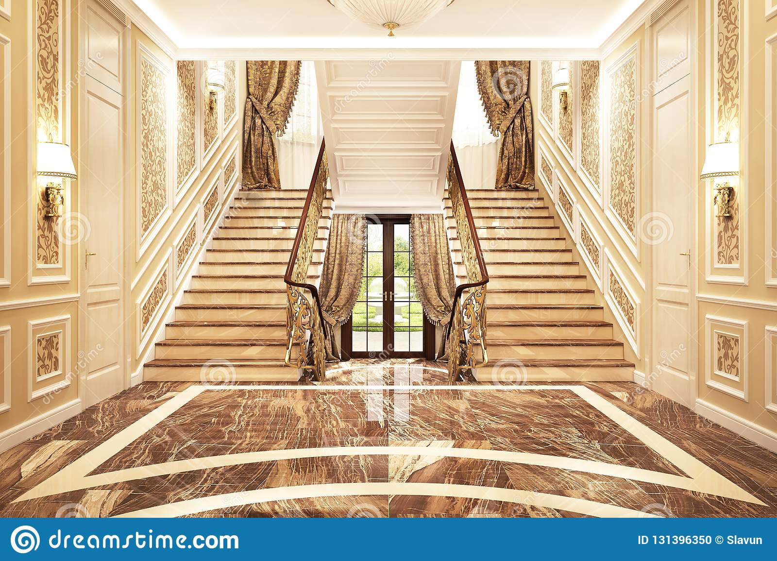 Interior Design In A Classic Style Stock Photo Image Of Gold Large 131396350