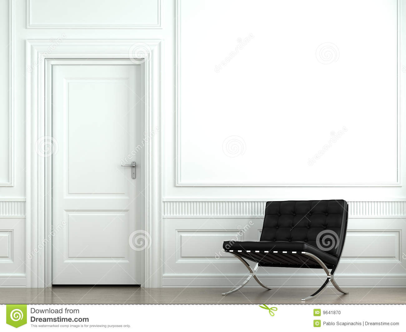 Interior Design Classic Wall Stock Photo Image 9641870