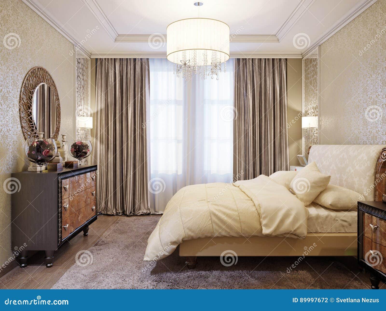 Interior design classico moderno spazioso e luminoso della for Design della camera da letto