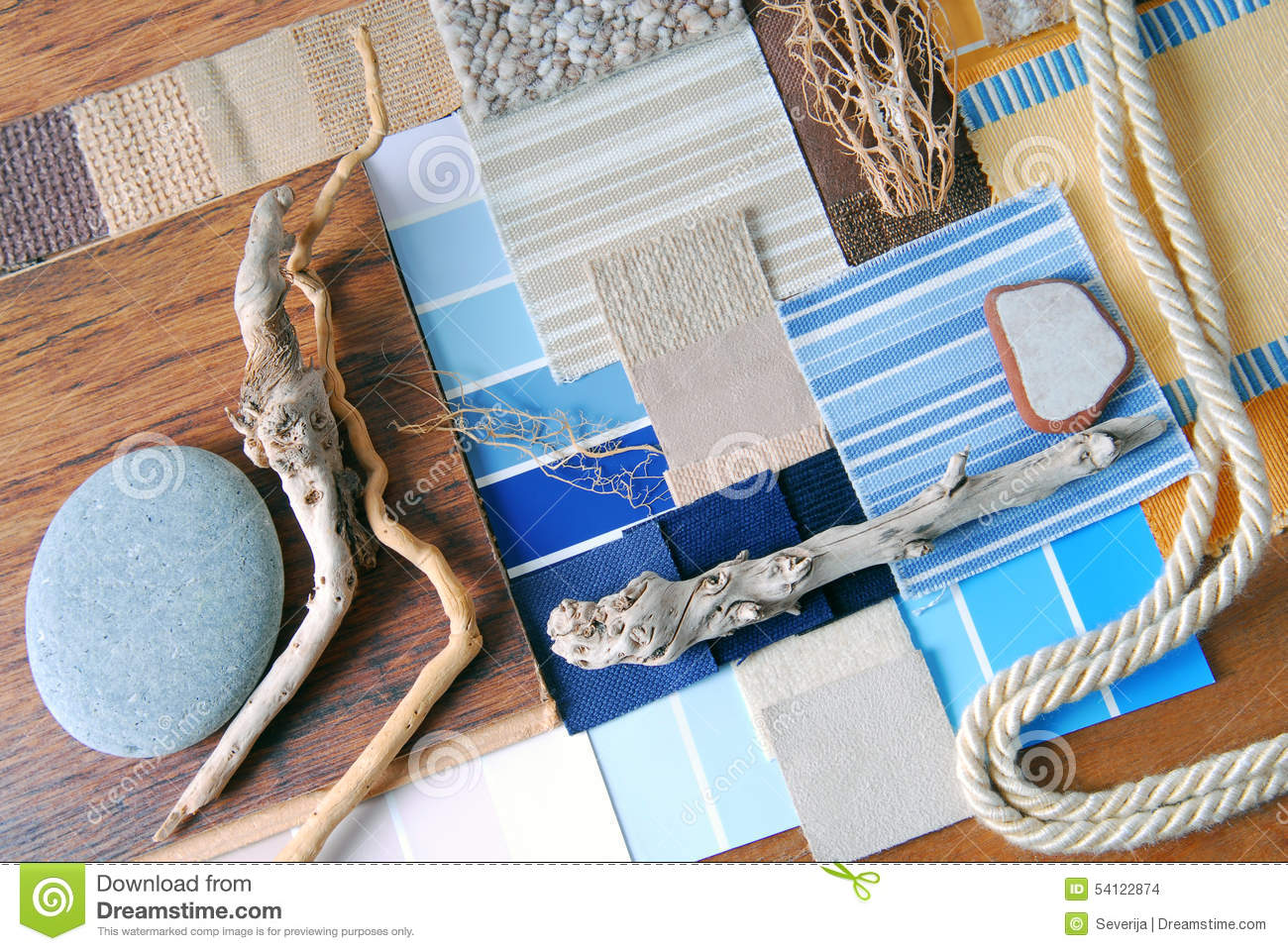 Interior design color and upholstery planning stock photo for Interior design color planner