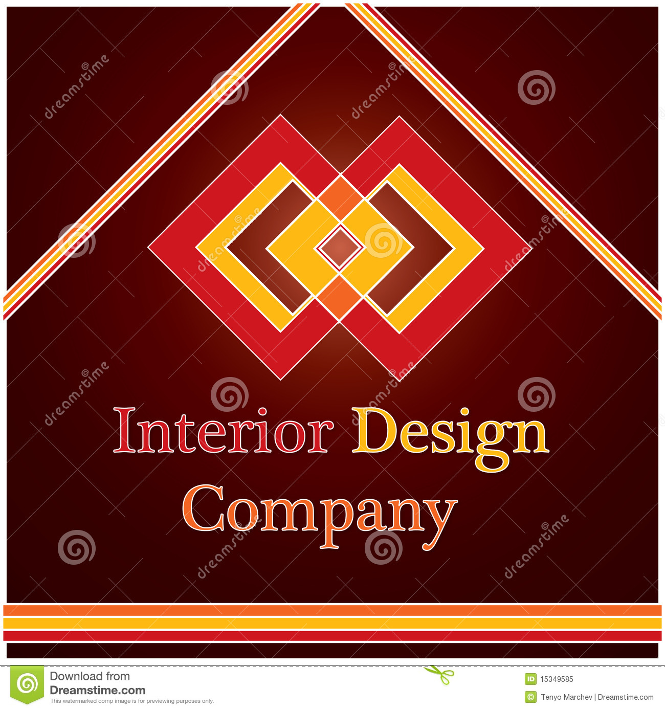 Interior Design Company Logo Royalty Free Stock Photo - Image