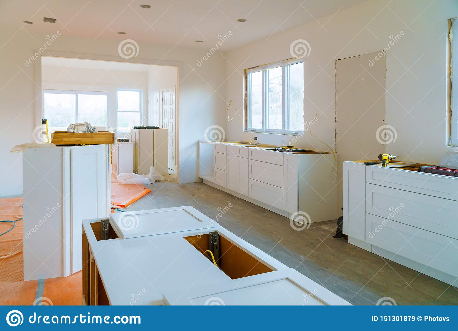 Interior Design Construction Of A Kitchen Drawers Of Kitchen Stock Image Image Of Cabinet Kitchen 151301879