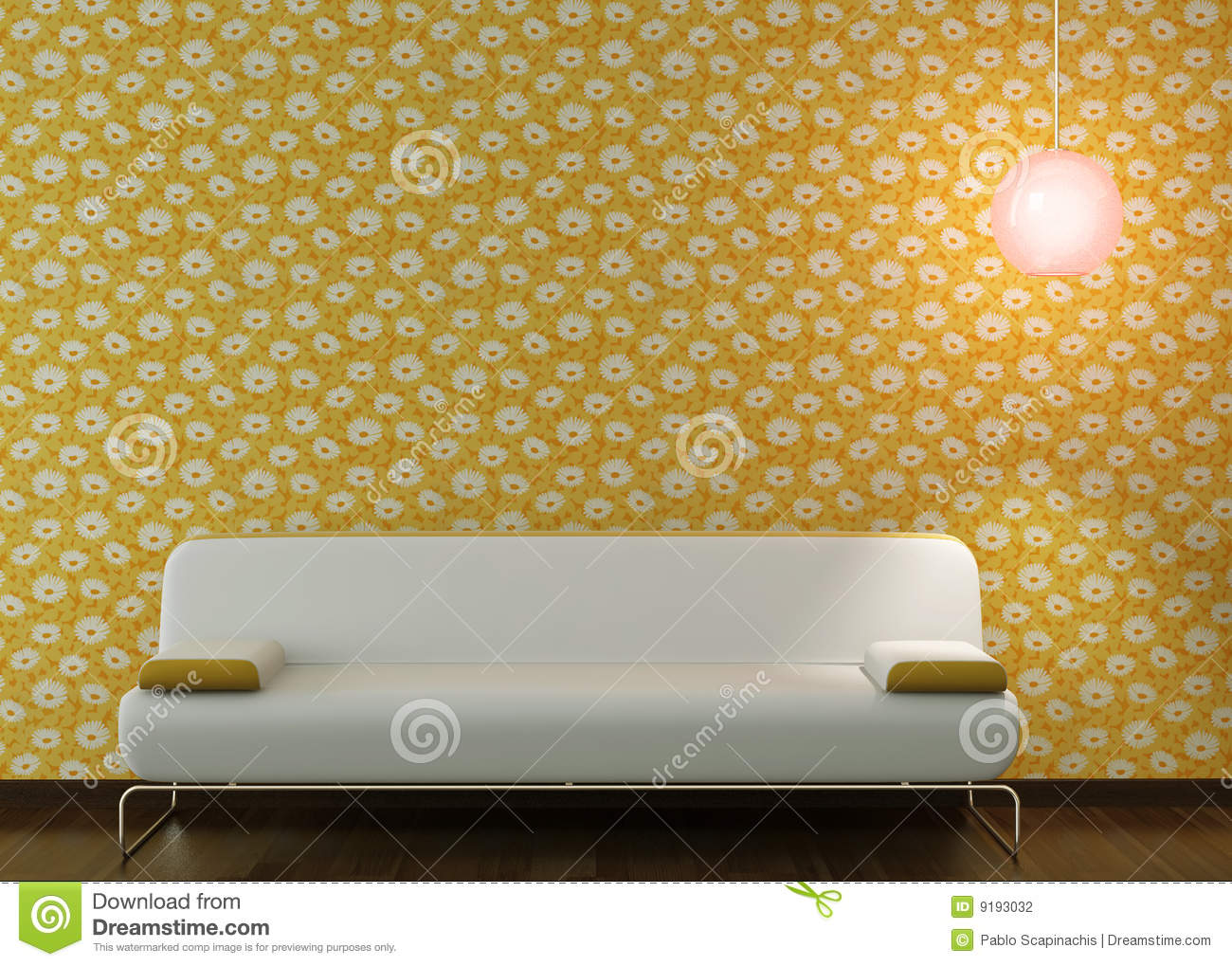 Background Couch Design Flowery Interior Lamp Wallpaper ...