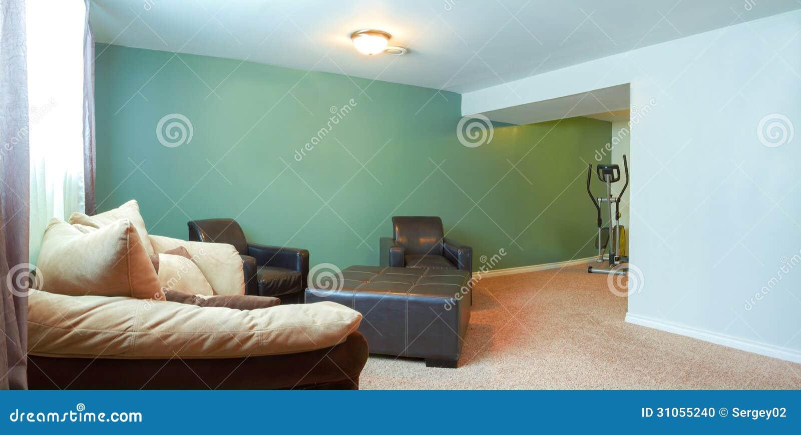 Interior Design Del Seminterrato Fotografia Stock ...