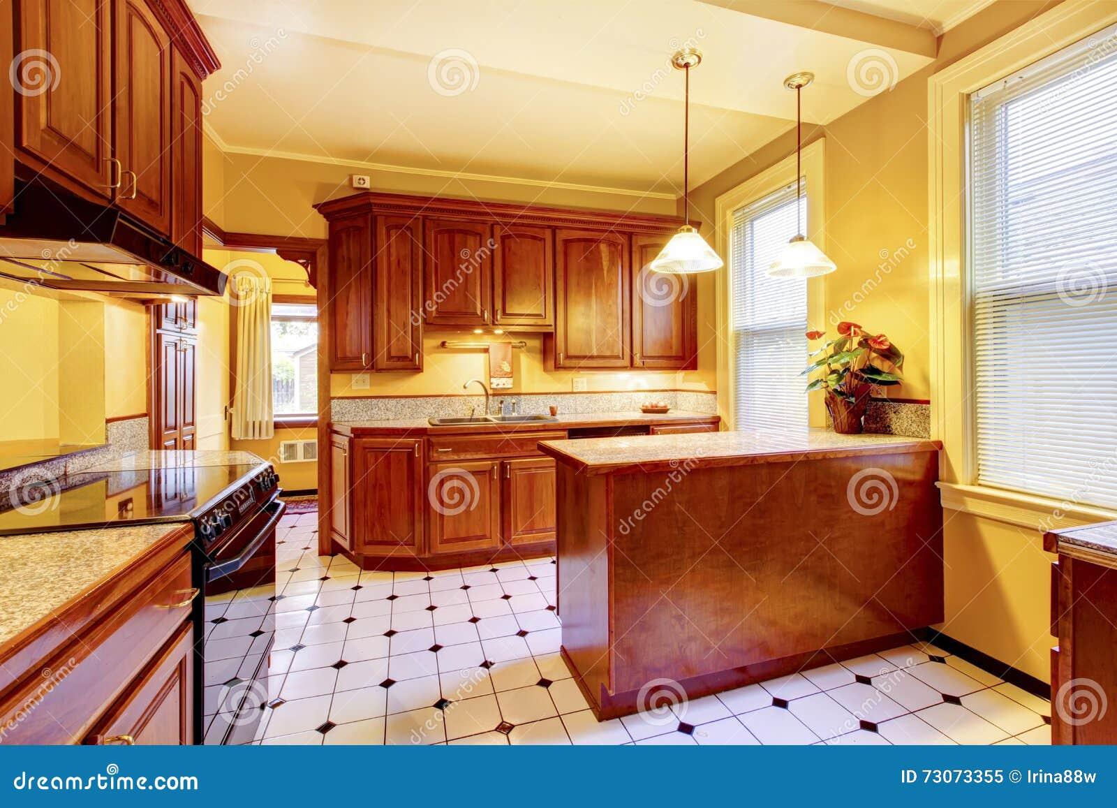 Interior design della cucina con l 39 isola il for Cucina mattonelle