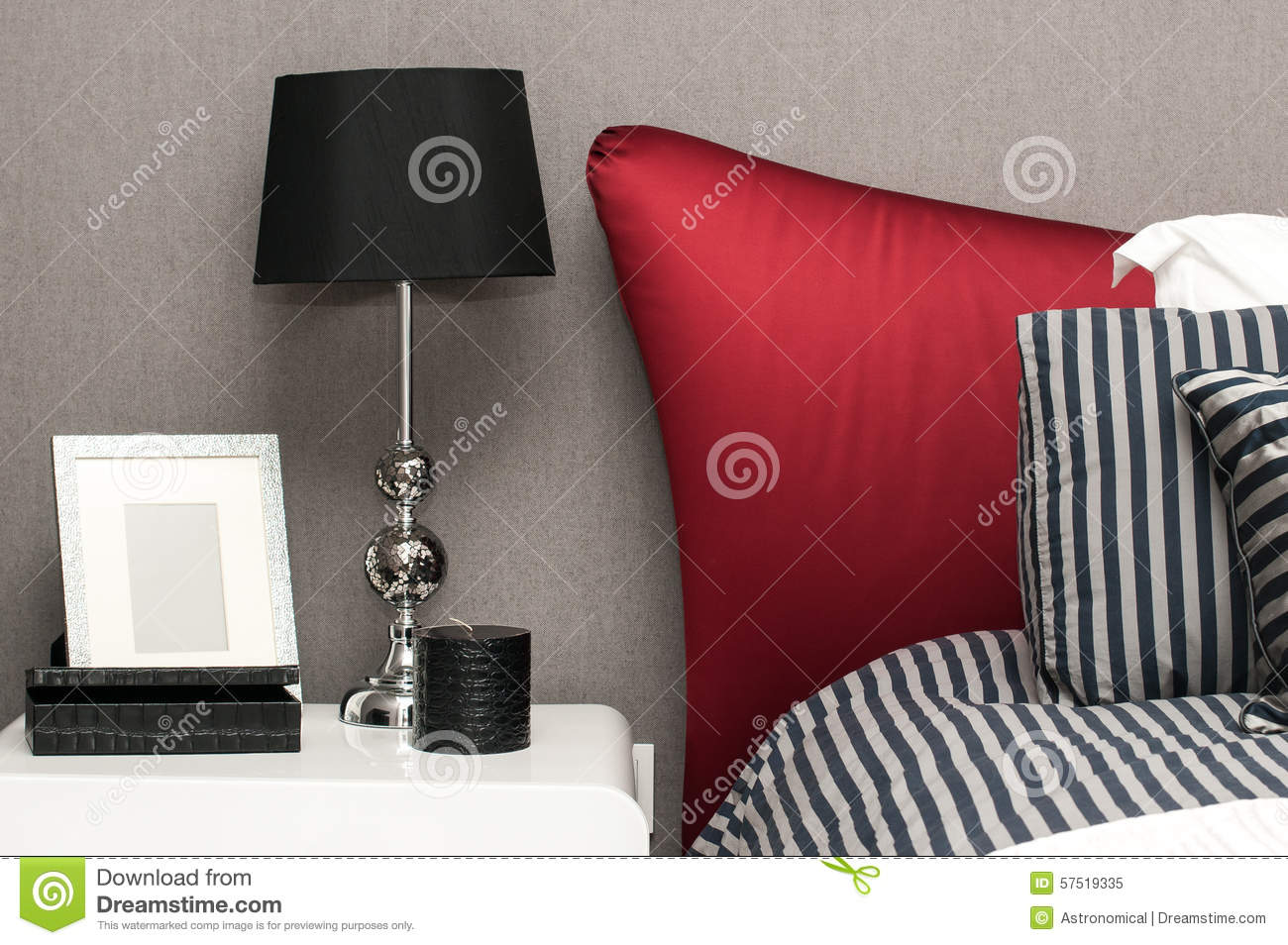 Interior Design Detail Of A Luxury Hotel Room Stock Photo