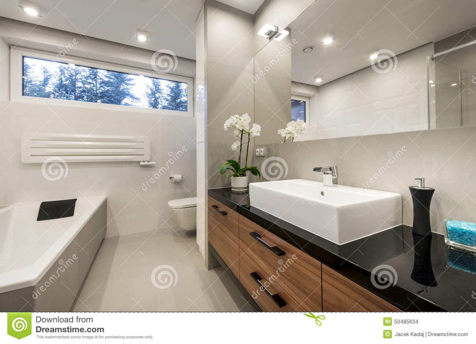 Interior design di lusso moderno del bagno fotografia for Design del bagno