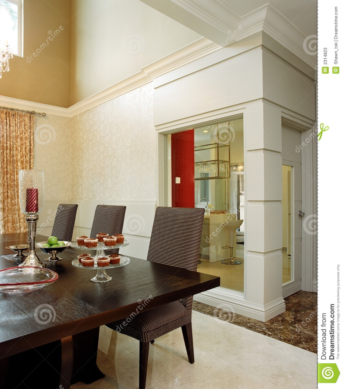 Interior design dining area stock photos image 2314823 for Interior design for dining area
