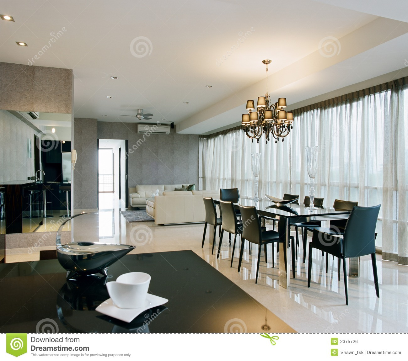 Interior design dining area stock photo image 2375726 for Interior design for kitchen and dining