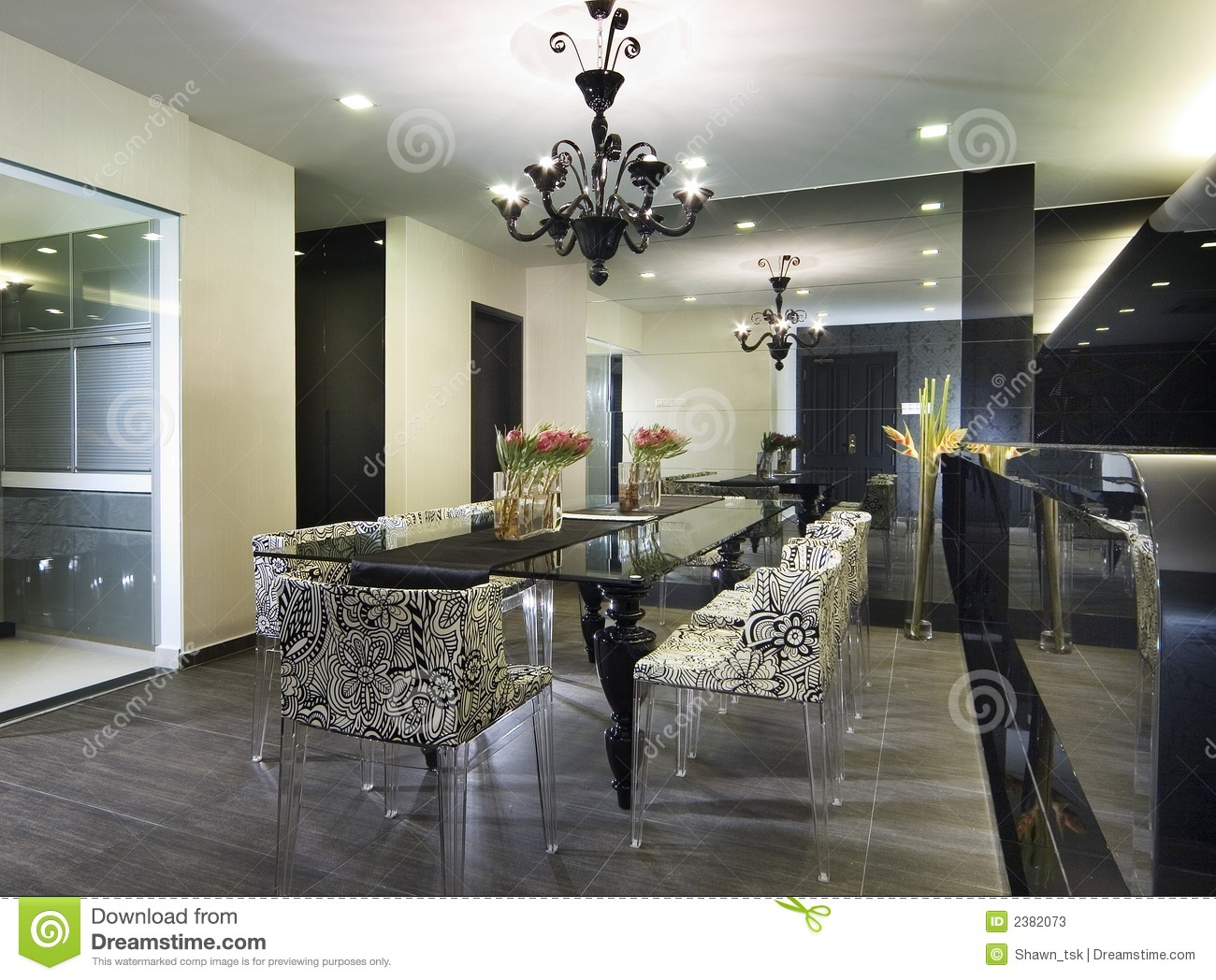 Interior design dining area stock photos image 2382073 for Interior design for dining area