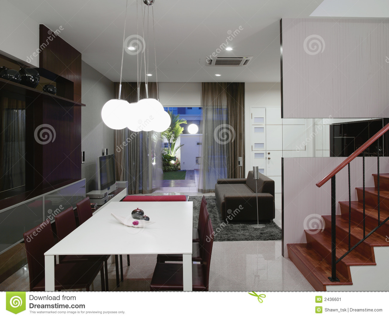 Interior design dining area stock image image 2436601 for Interior design for dining area