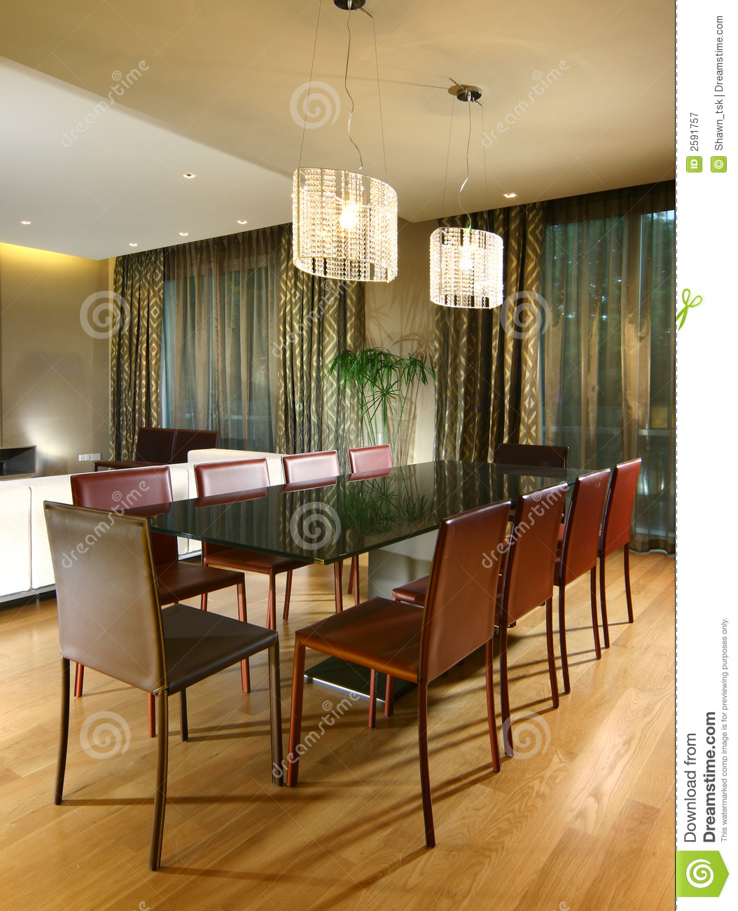 Interior design dining area royalty free stock for Interior design for dining area