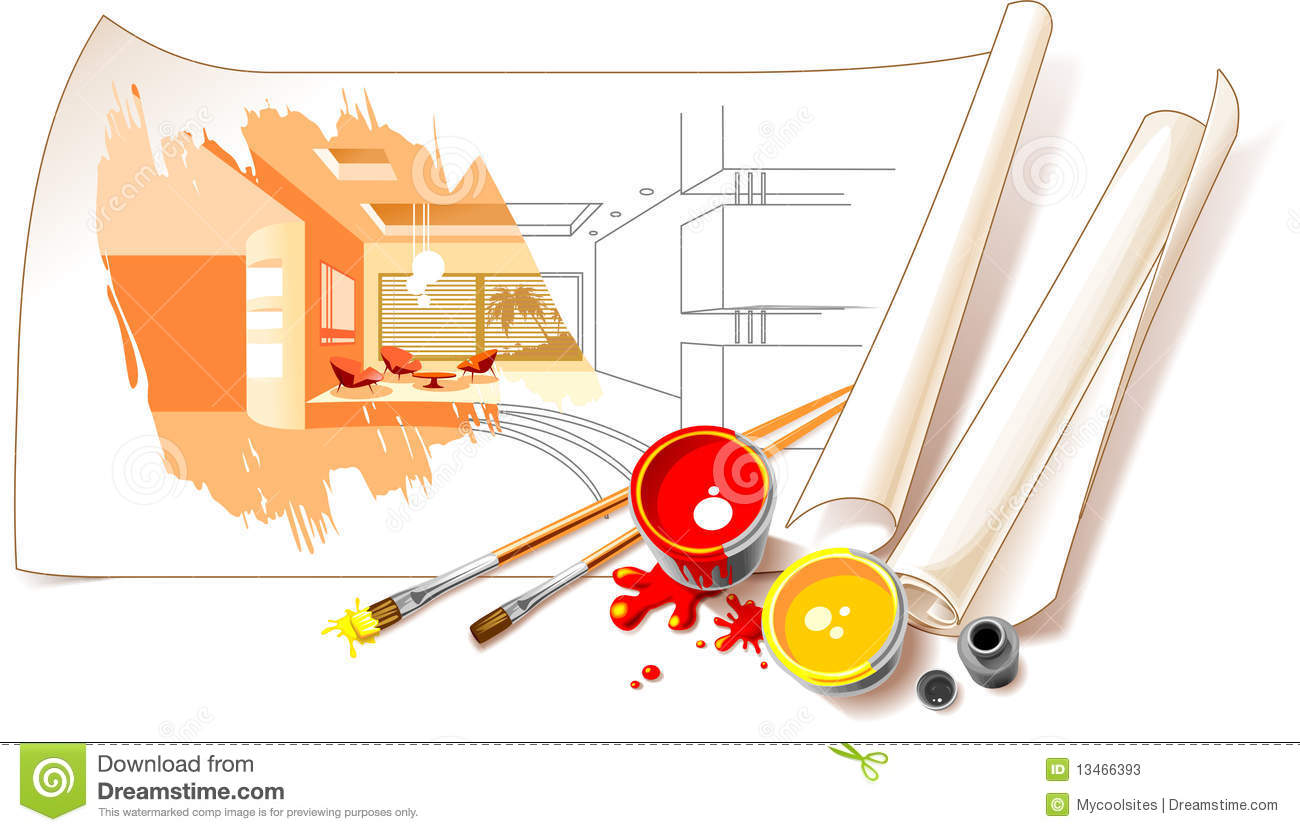 Interior design drawings stock illustration illustration for Innenarchitektur tool
