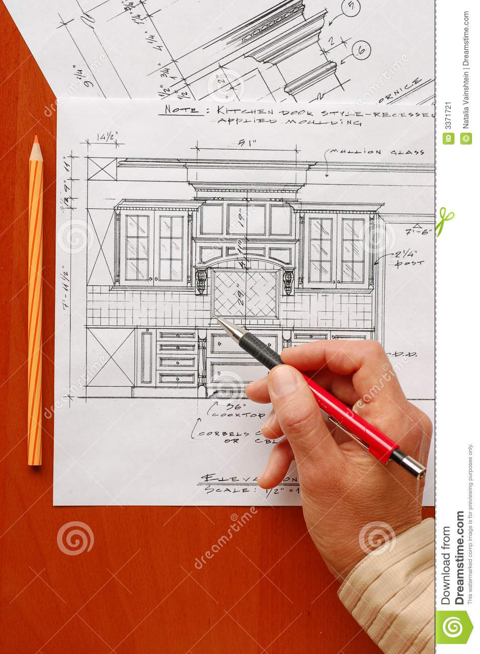Interior Design Drawings Stock Image Image 3371721