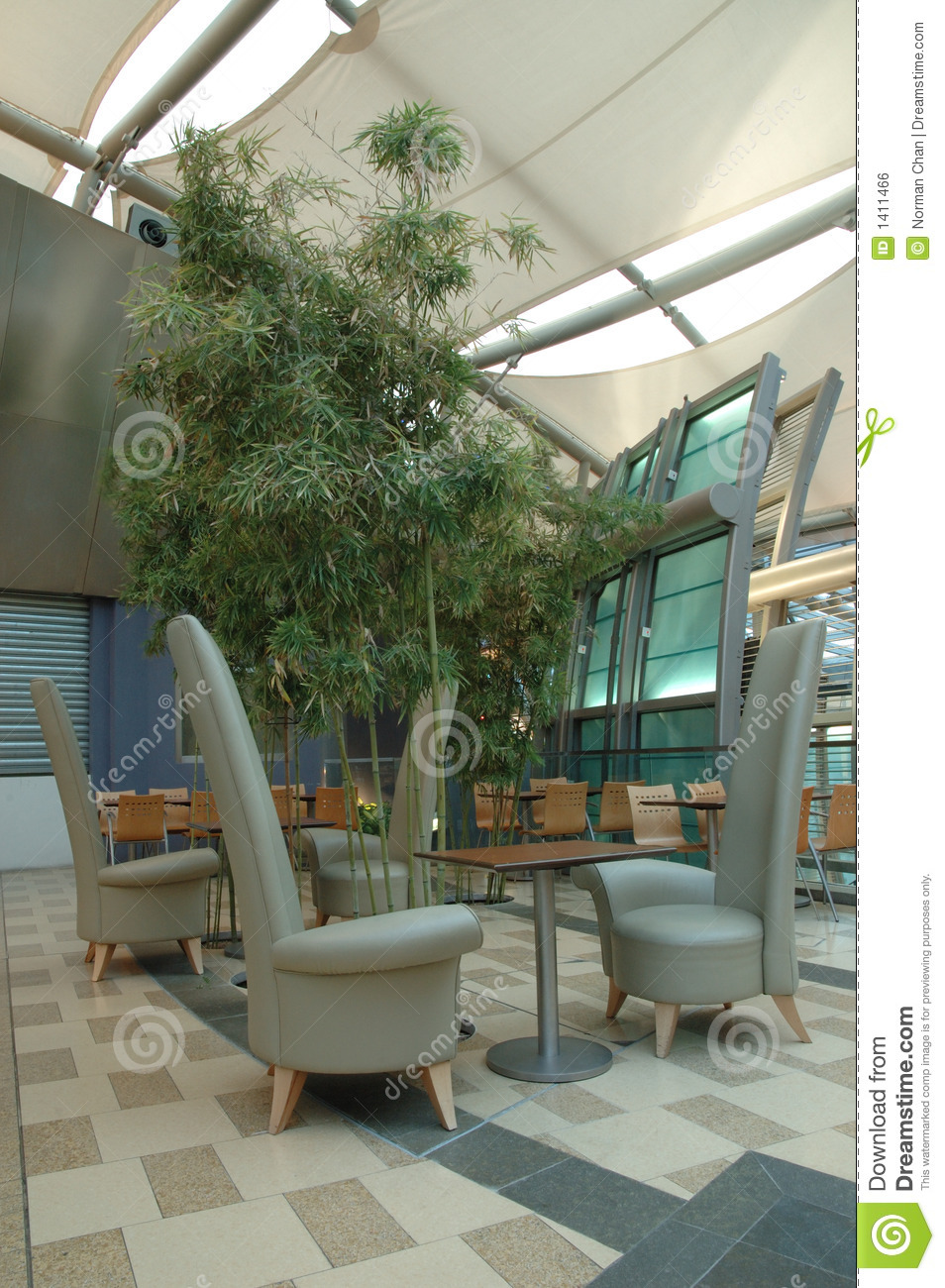 Interior Design Of Food Court Area Royalty Free Stock