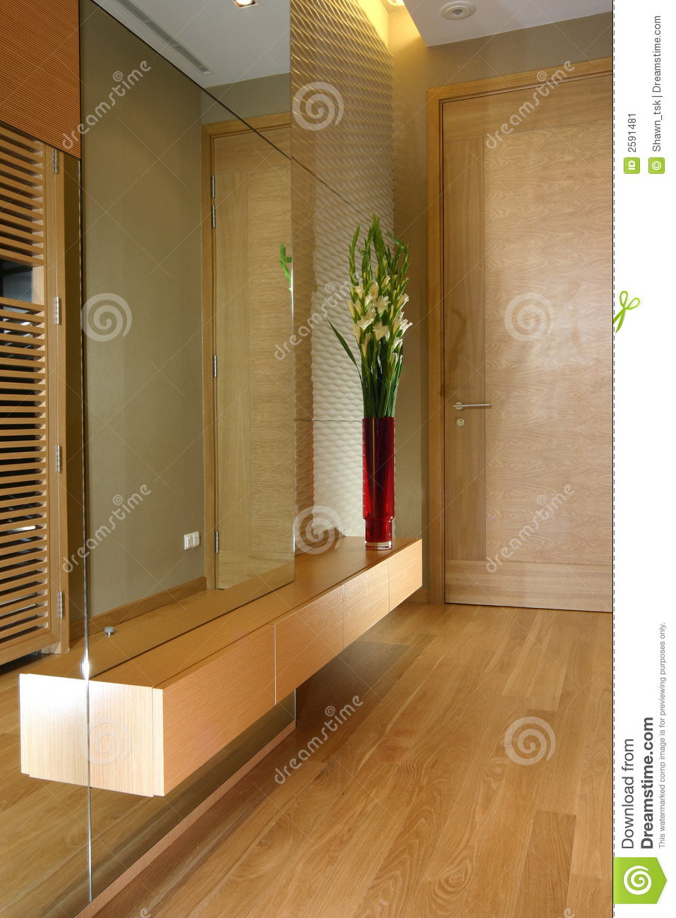 Interior design - foyer stock image. Image of vanity, wall ...