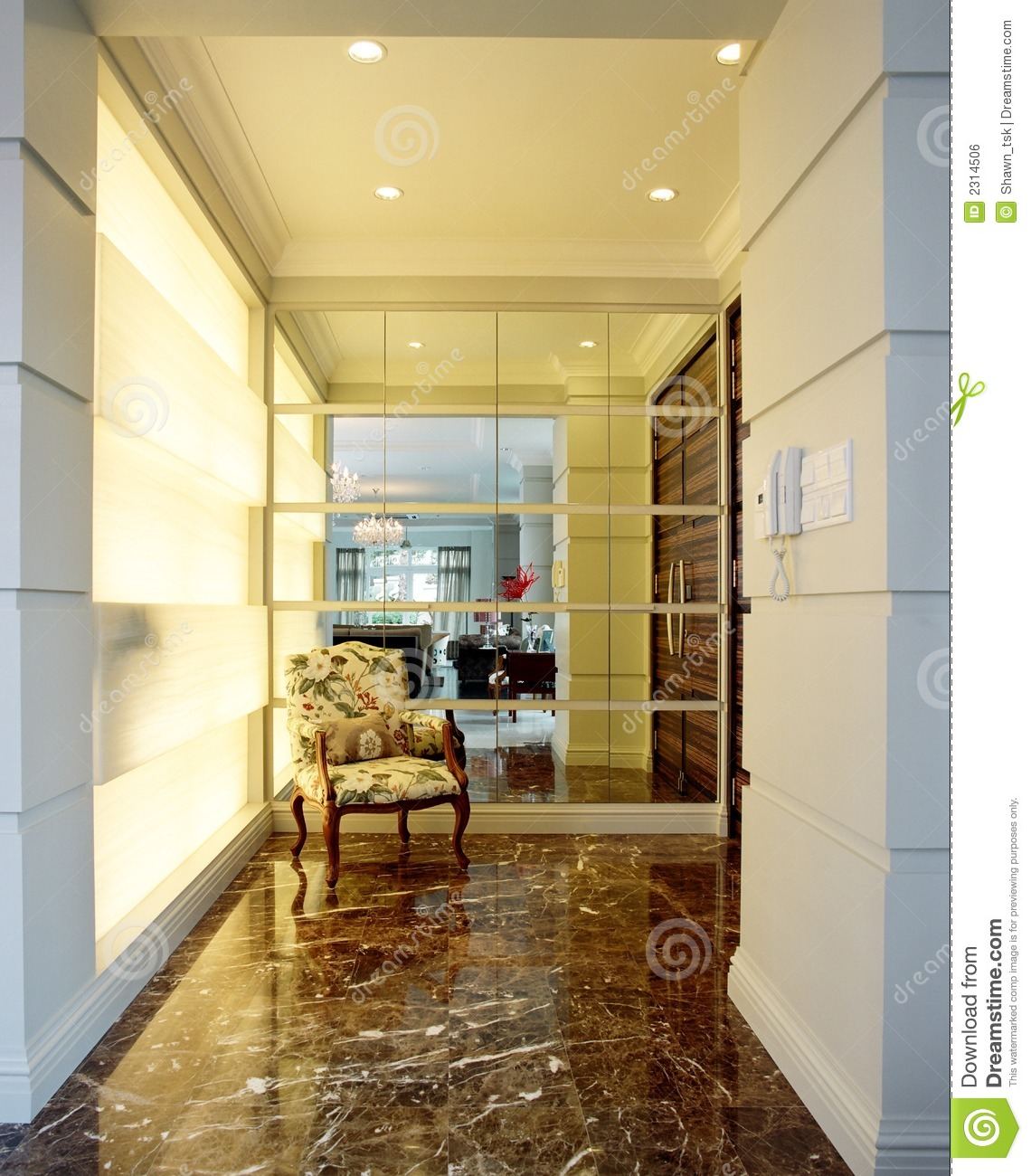 Interior Design Foyer Area Royalty Free Stock Image