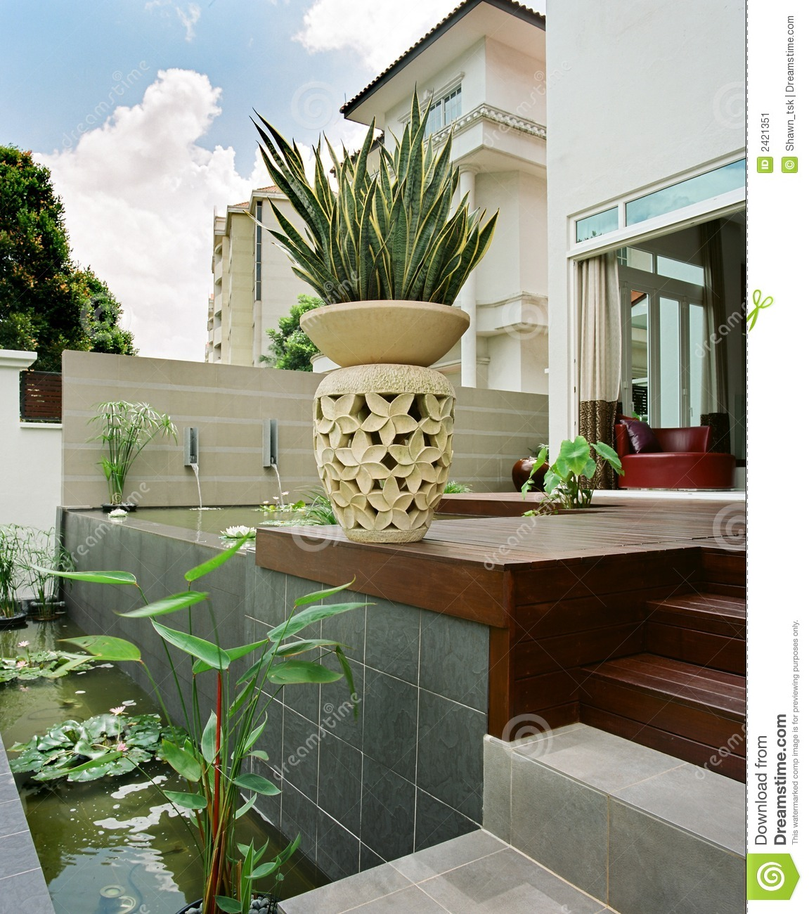 Interior design garden stock image image 2421351 for Manapat interior landscape designs