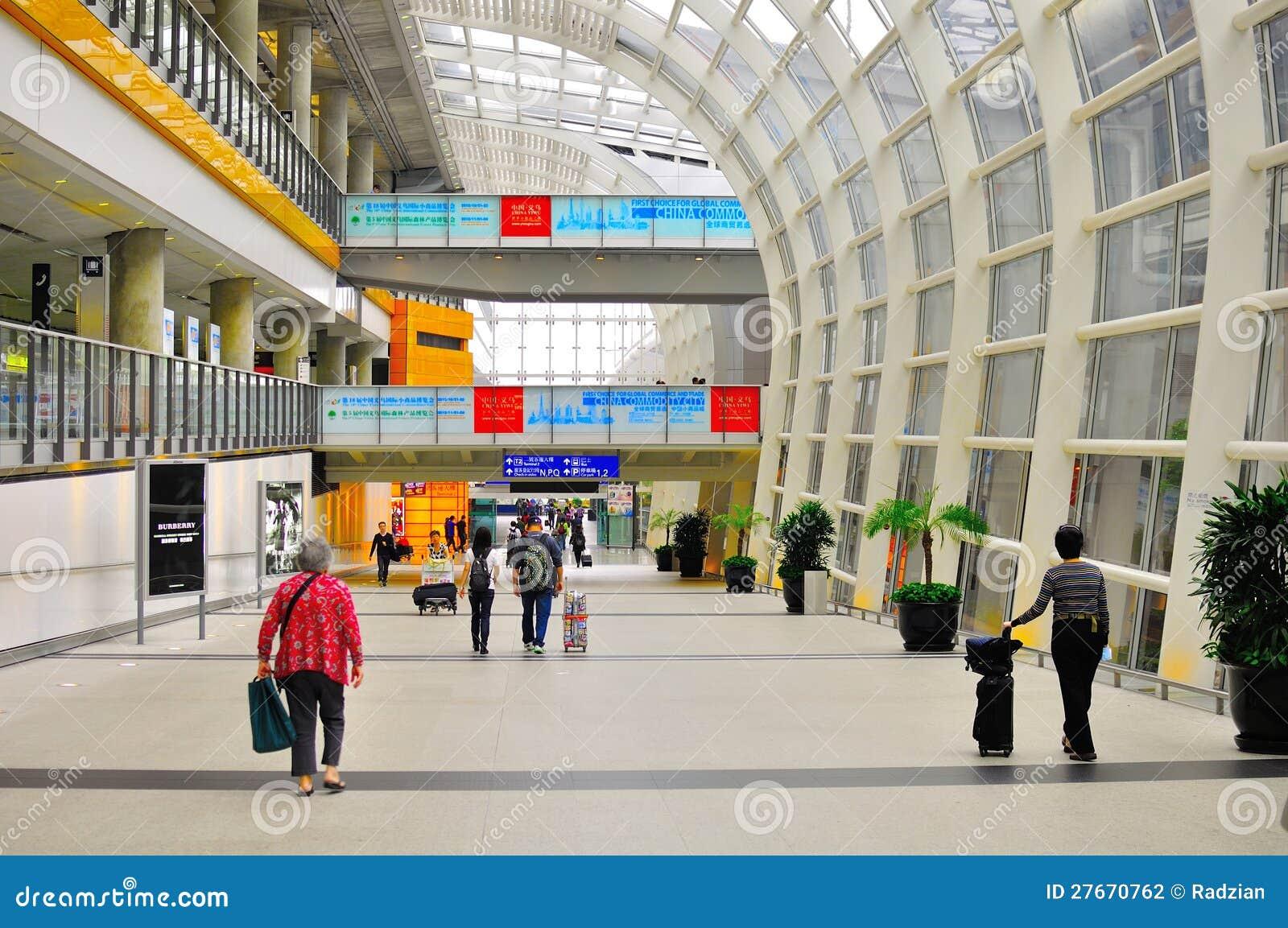 Interior Design Of Hong Kong International Airport Stock Photography