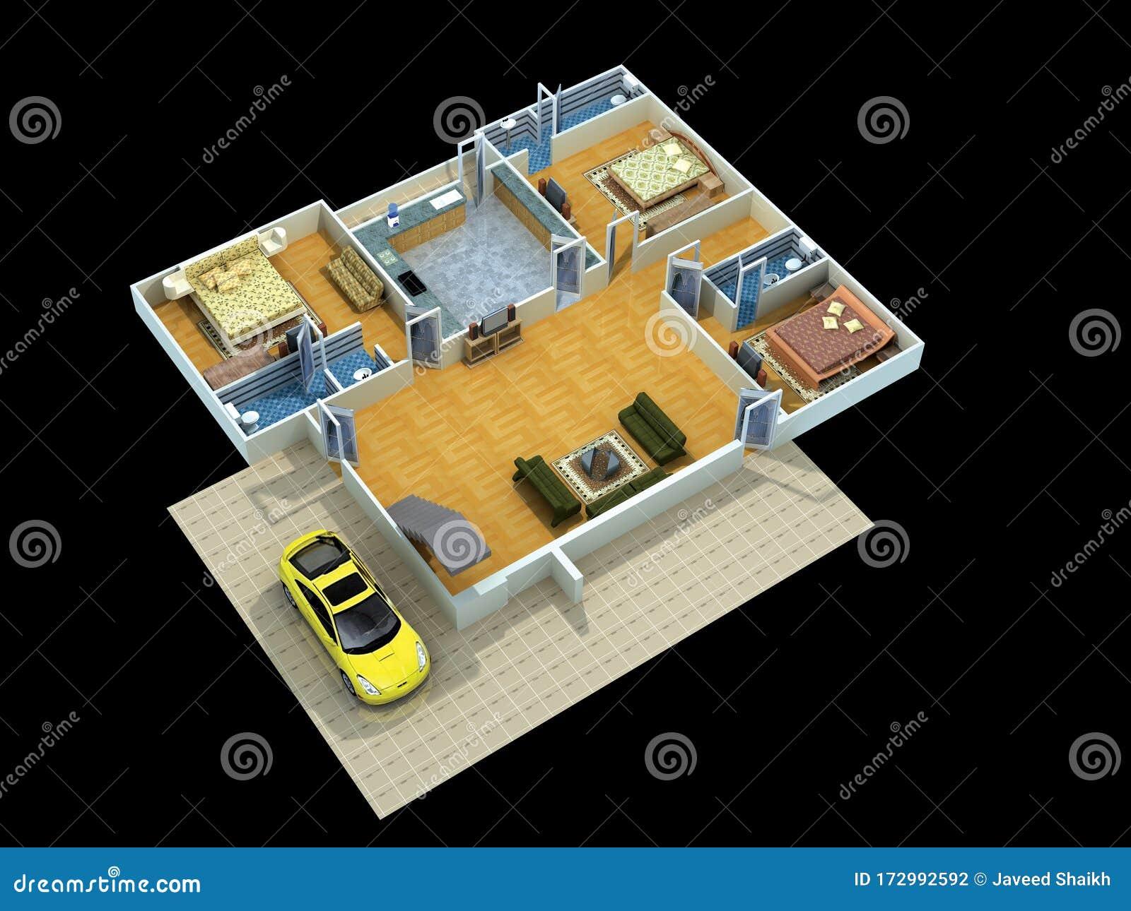 Interior Design Ideas & Home Decorating Stock Illustration ...