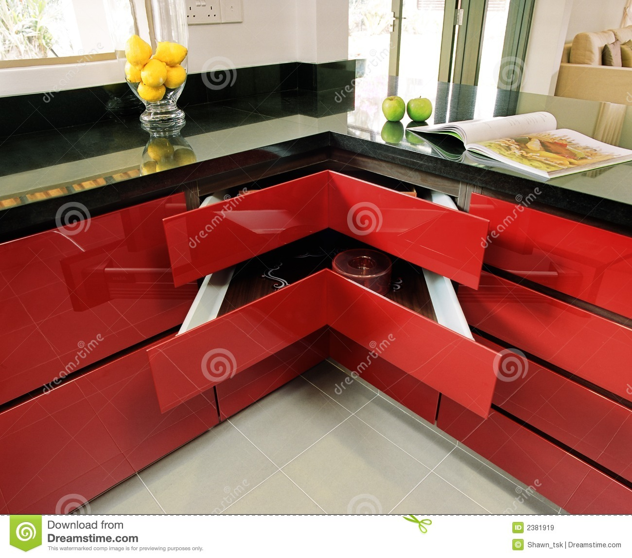 modern home kitchen center island countertop royalty free stock