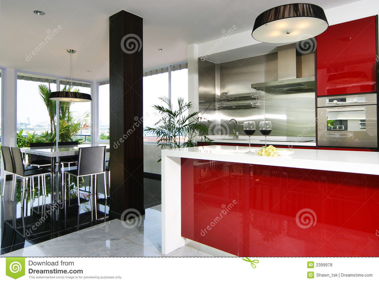 Interior design kitchen stock photo image of gloss for Kitchen interior images