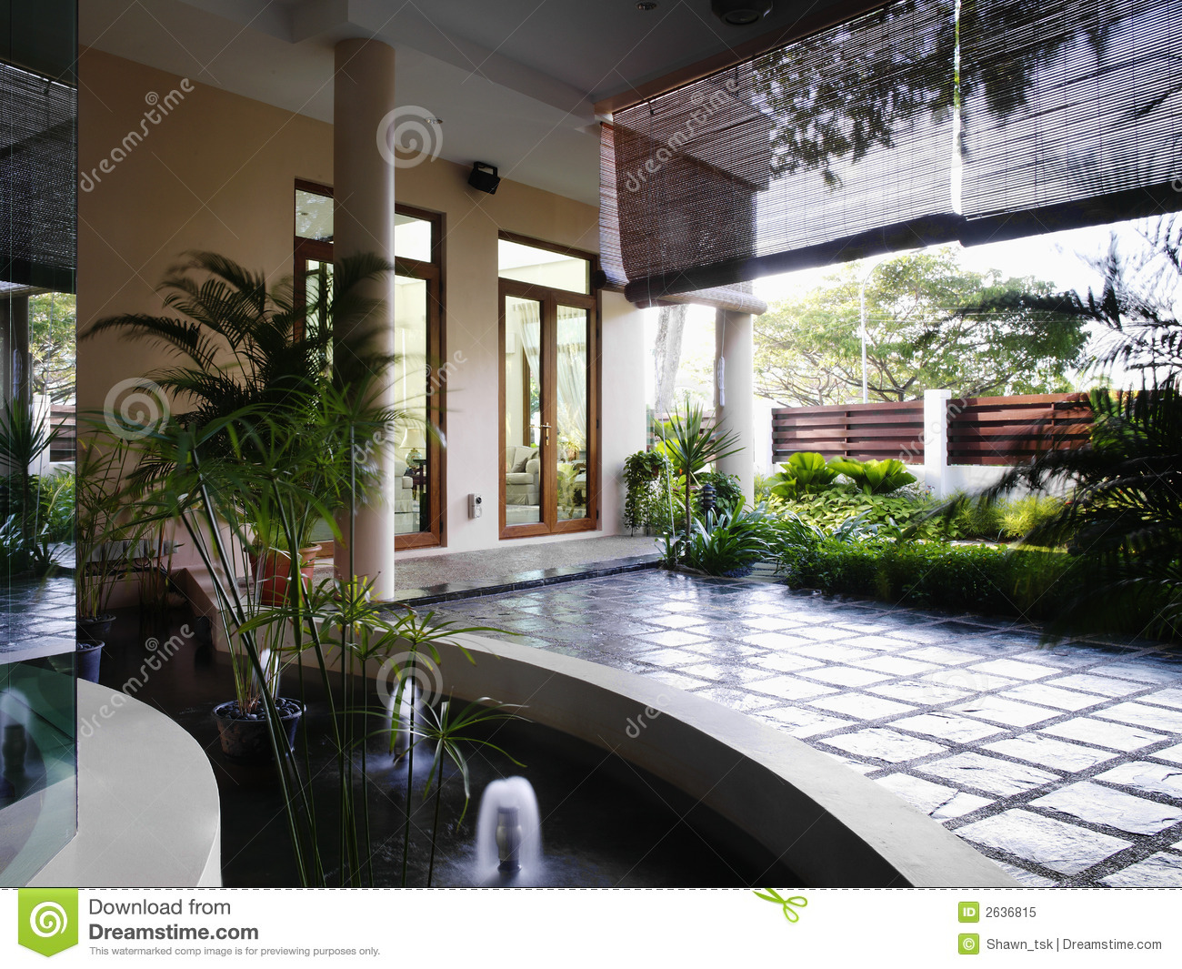 Interior design landscape royalty free stock photo for Interior garden design
