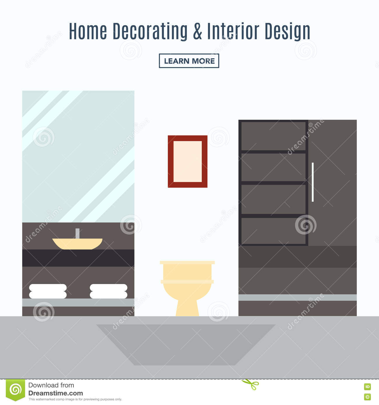Interior design of a living room stock vector for Is there a website to design a room