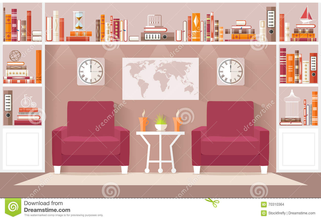 Interior design living room vector illustration stock for Room design vector
