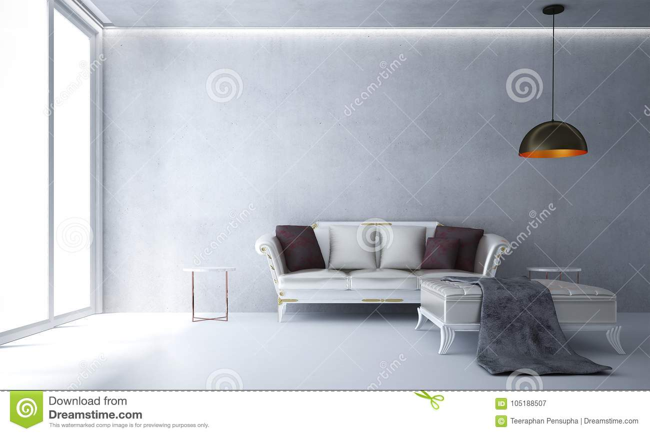 The Interior Design Of Lounge Chairs And Living Room And