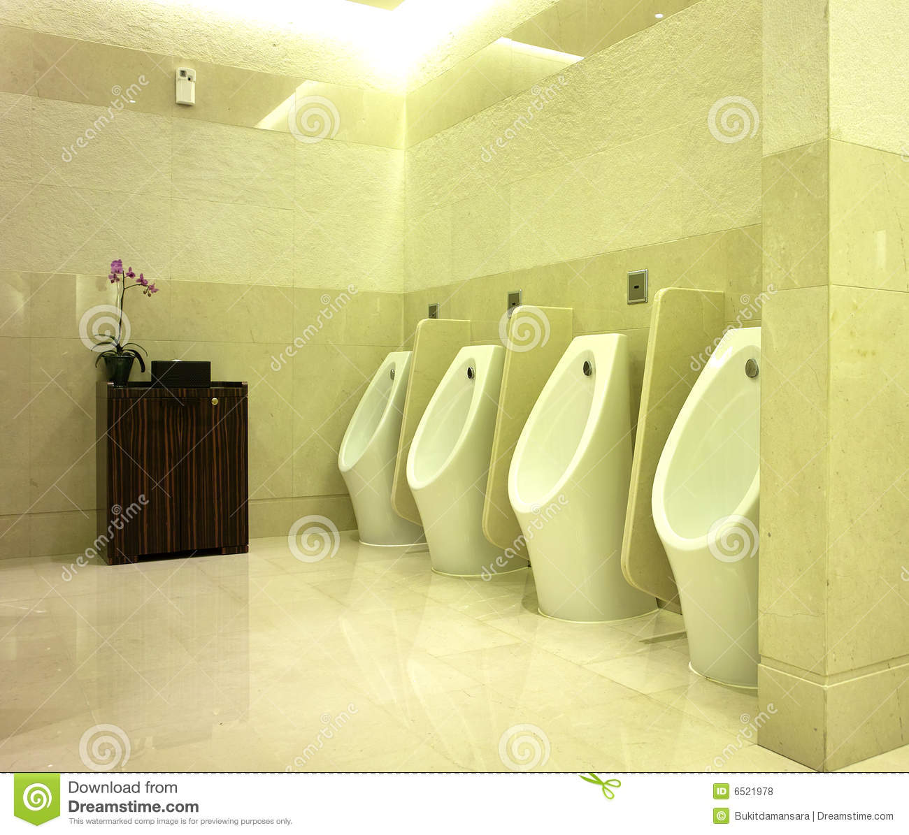 Interior Design Of Men S Toilet Stock Photo Image 6521978