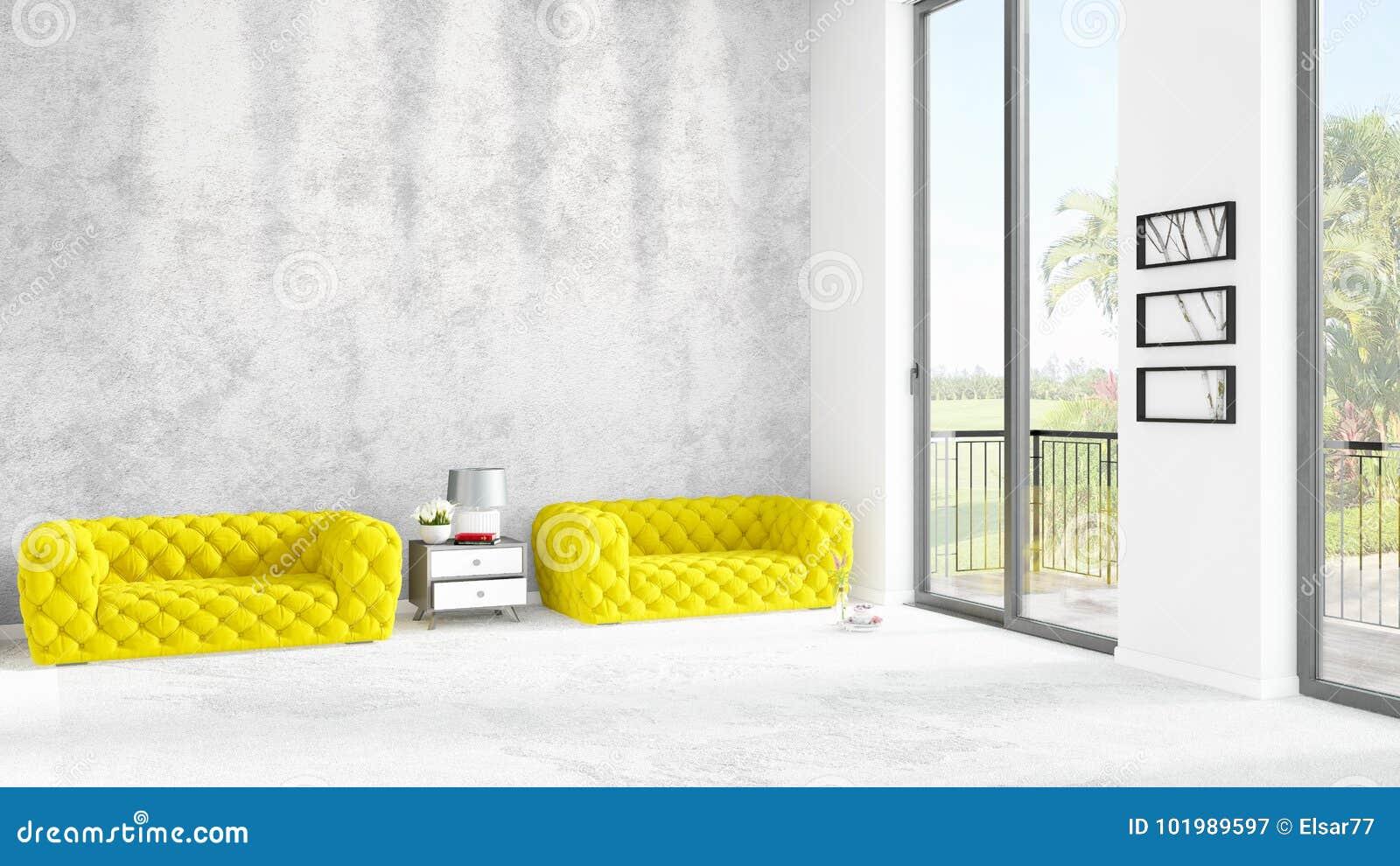 Interior design minimo di stile della camera da letto for Camera da letto interior design