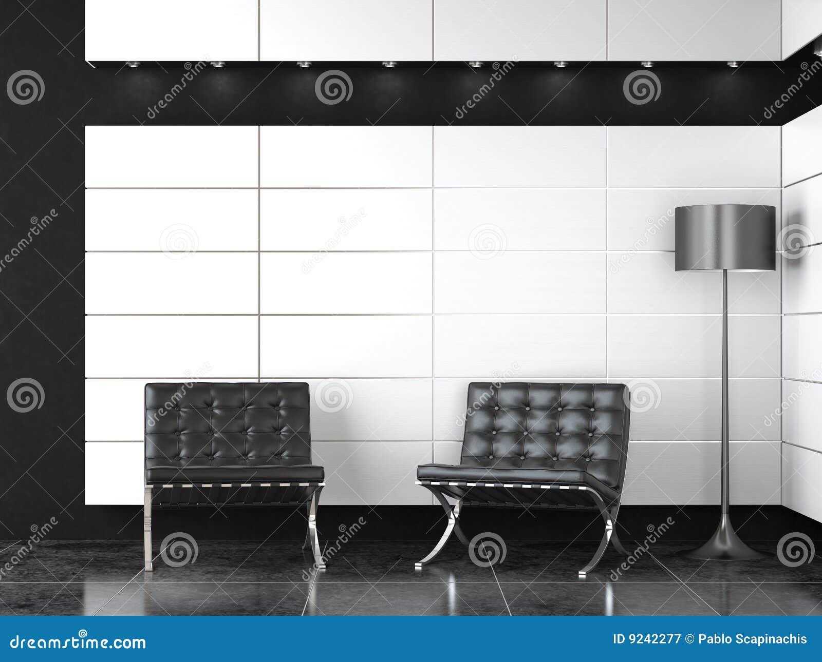 Interior Design Of Modern Bw Reception