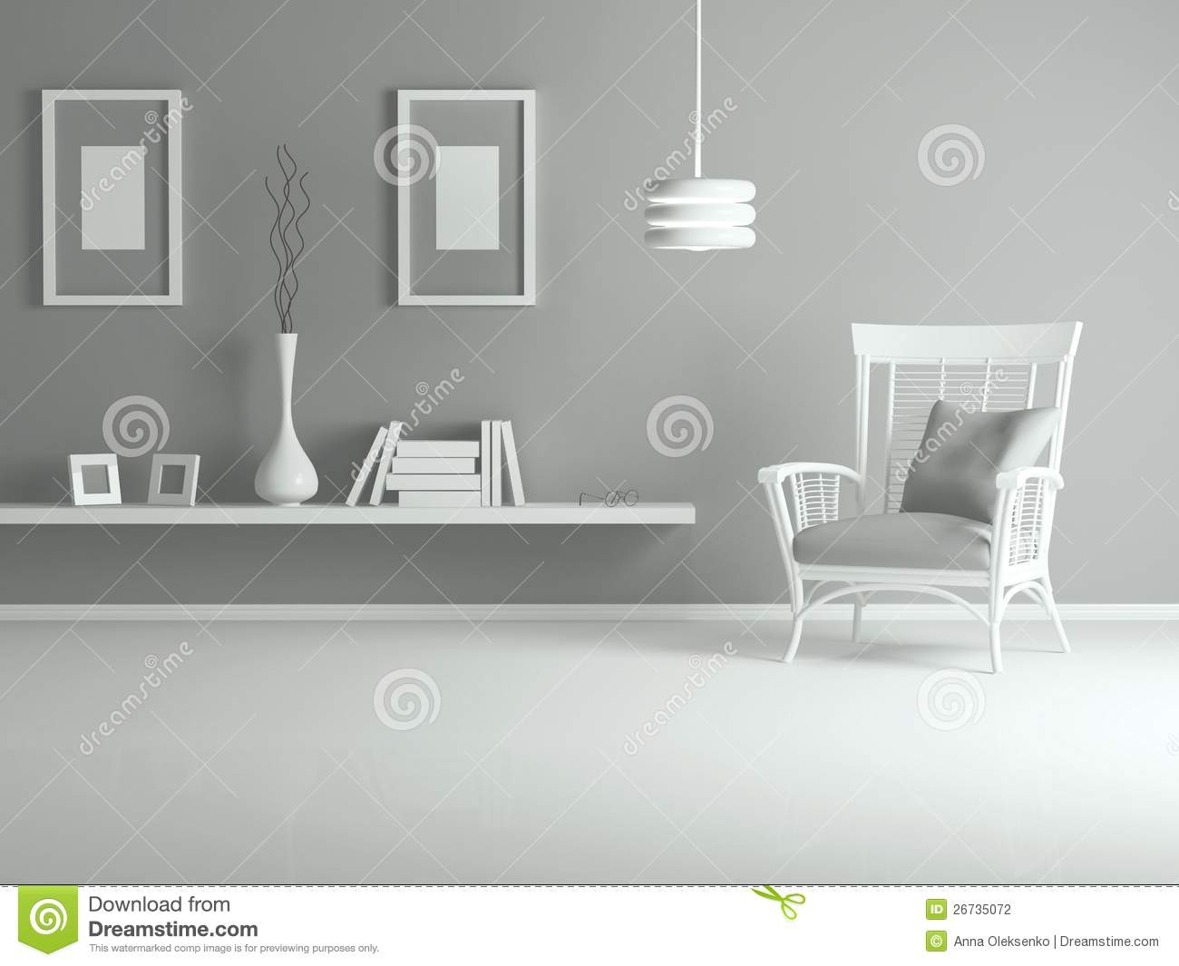 Interior Design Of Modern Living Room Stock Photography