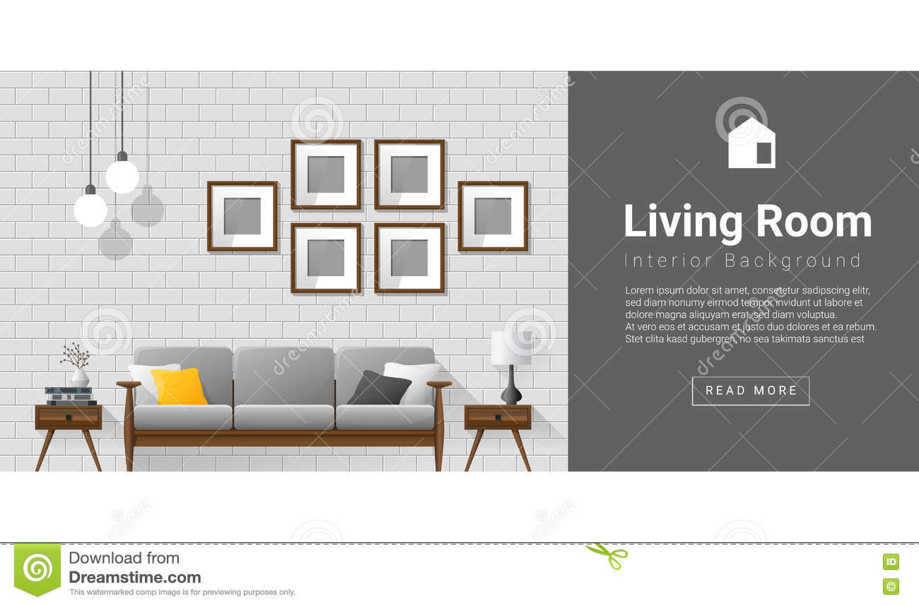 Modern living room background - Royalty Free Vector Download Interior Design Modern Living Room Background