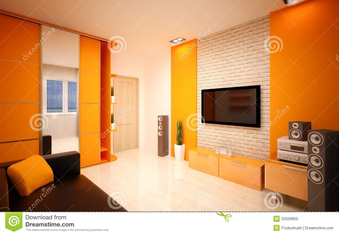 Interior design modern living room stock photo image for Modern drawing room interior