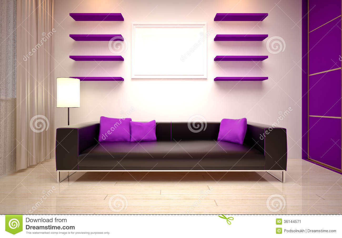Interior Design. Modern Living oom Stock Image - Image: 36144571 - ^