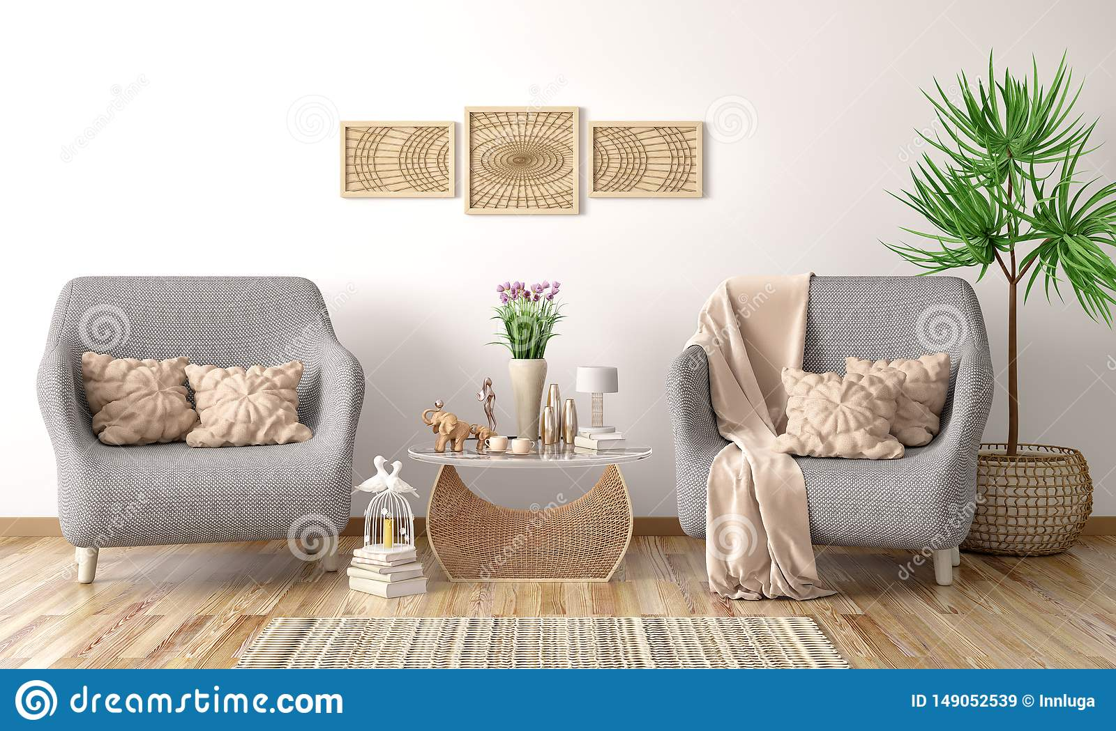 Phenomenal Interior Design Of Modern Living Room With Two Armchairs Theyellowbook Wood Chair Design Ideas Theyellowbookinfo