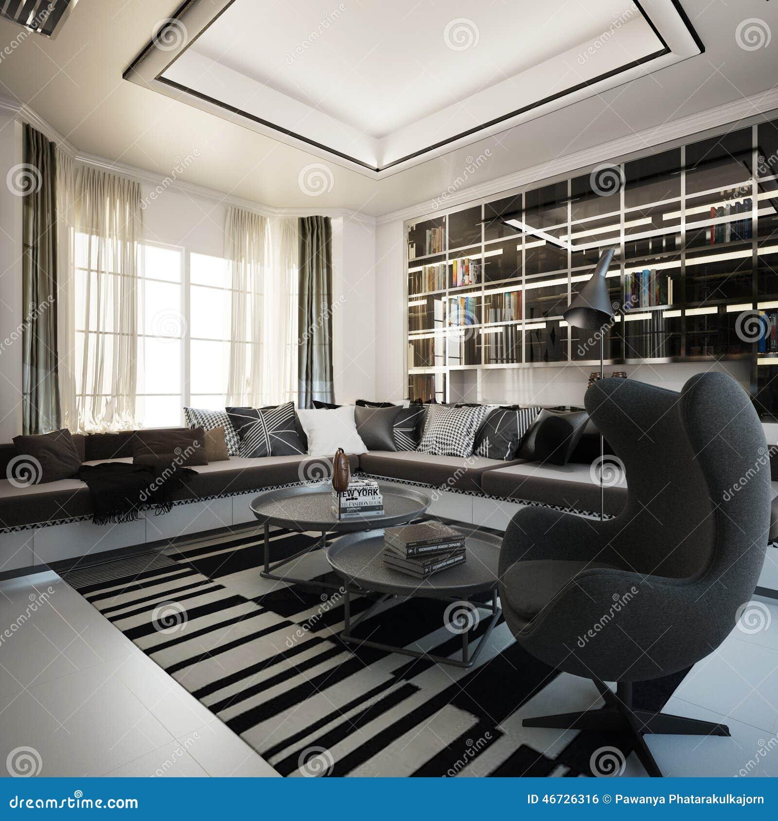 Living area interior design stock illustration image for Living area interior design