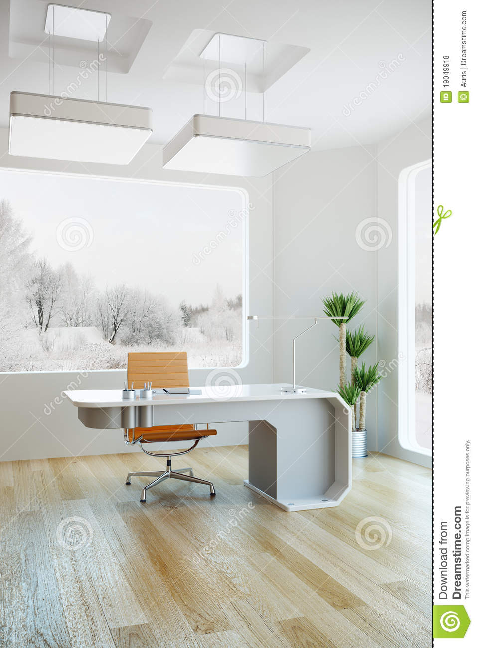 Interior design of modern office stock illustration for Interior design office modern