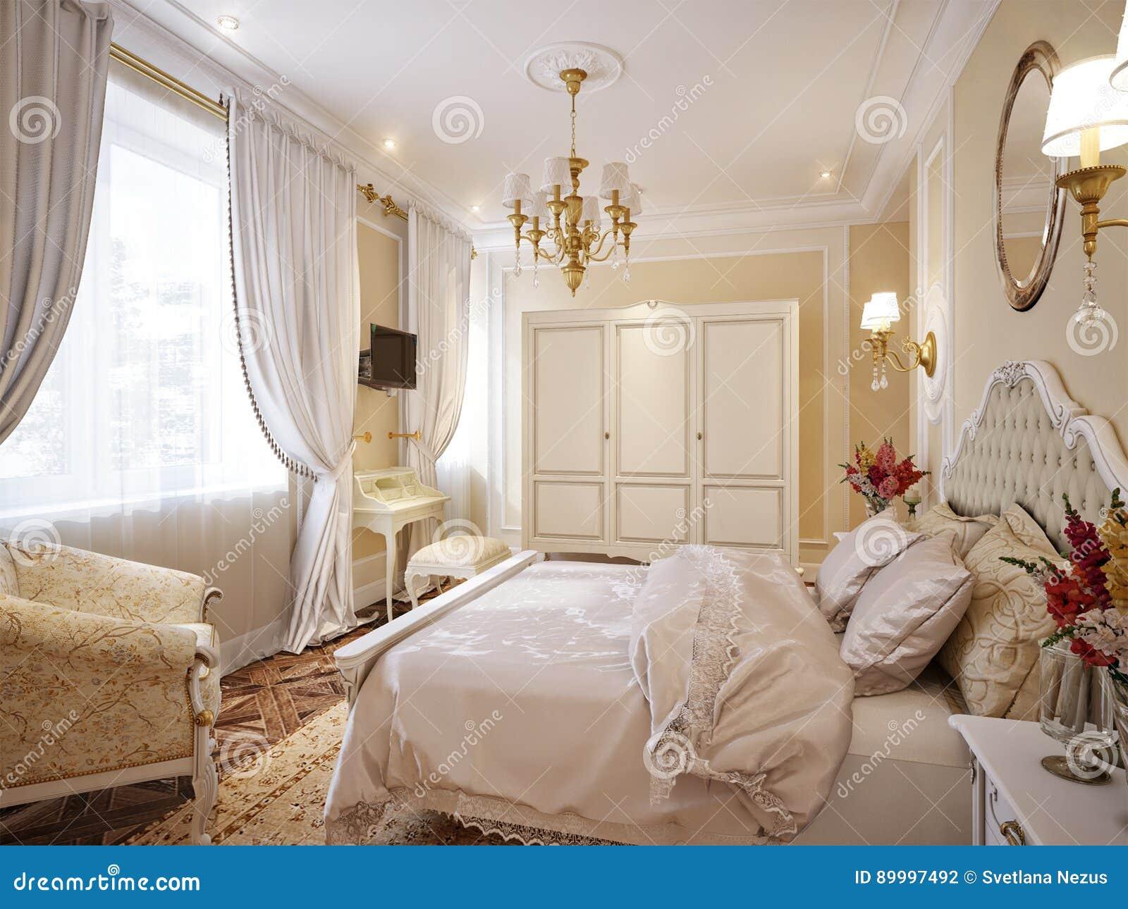 Letti Classici Di Lusso.Interior Design Moderno Classico Di Lusso Della Camera Da Letto