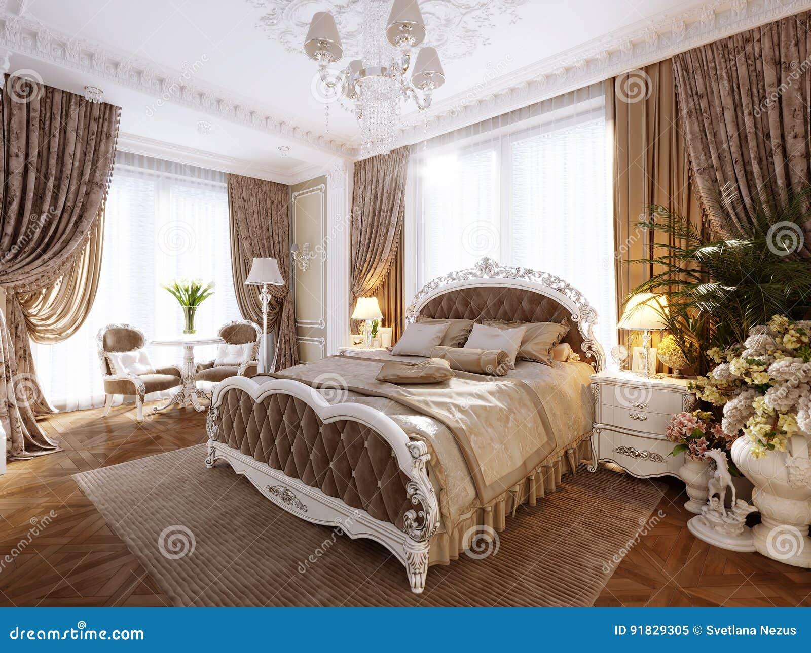 Letti Classici Di Lusso : Interior design moderno classico di lusso della camera da letto