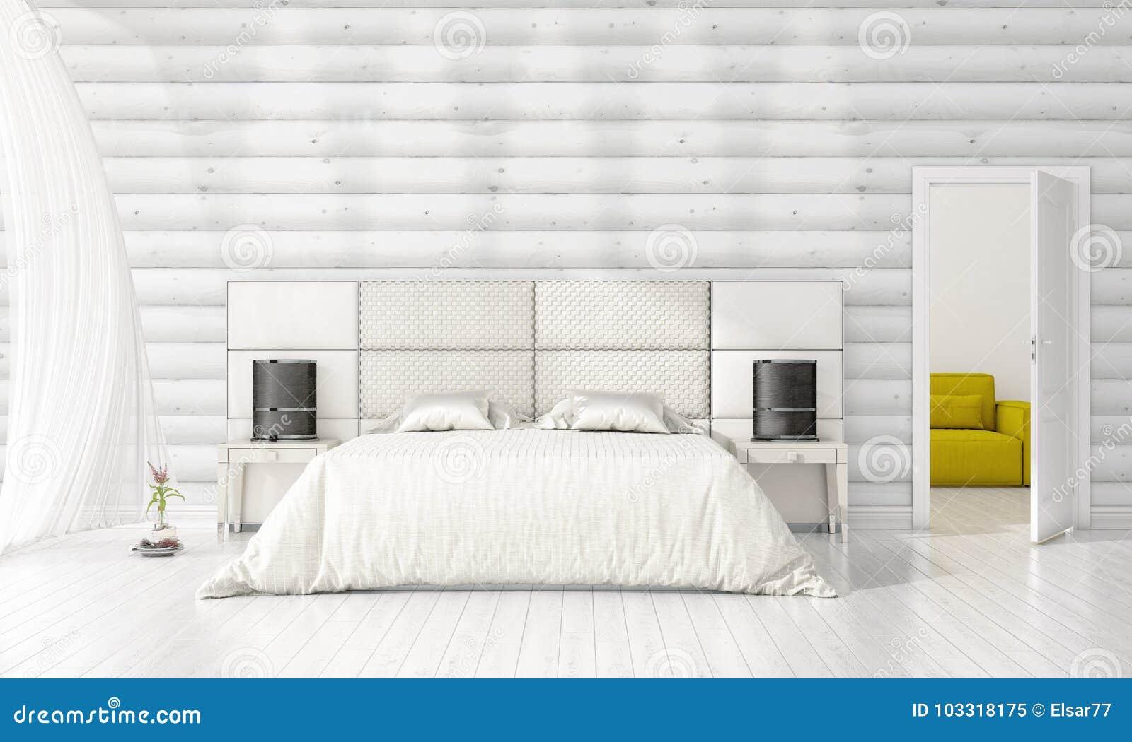 Interior design moderno della camera da letto nella moda for Design della camera degli ospiti